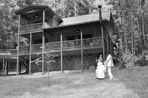 Cabin Elopement Couple